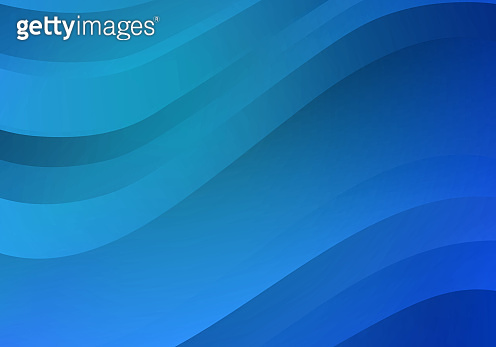 Abstract Background with Blue Gradient Waves. Vector Minimal Banner