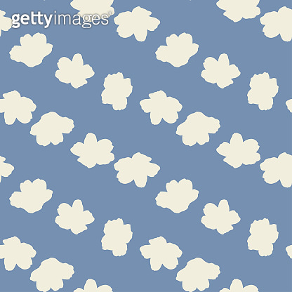 Anemone flowers,vector seamless pattern.