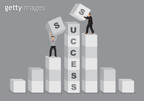 Comparative Advantage for Success Business Cartoon Vector Illustration