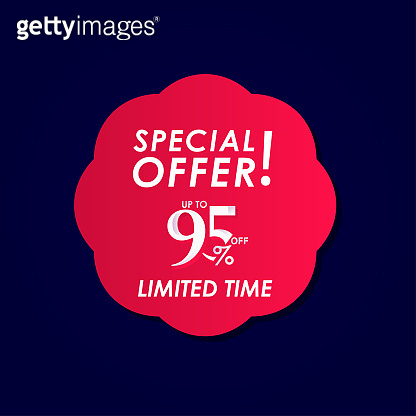 Discount Special Offer up to 95% off Limited Time Label Vector Template Design Illustration