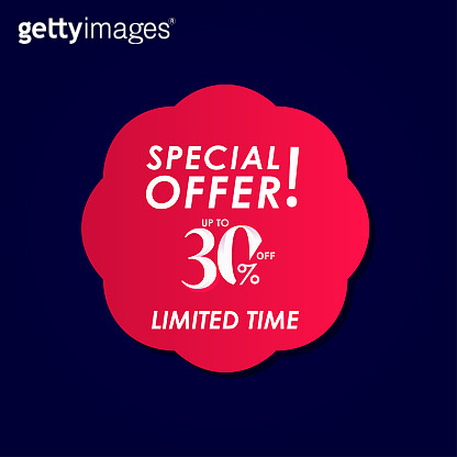 Discount Special Offer up to 30% off Limited Time Label Vector Template Design Illustration