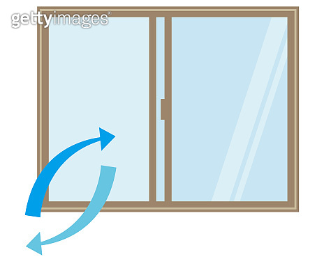 Vector illustration opening the window and replacing the air .
