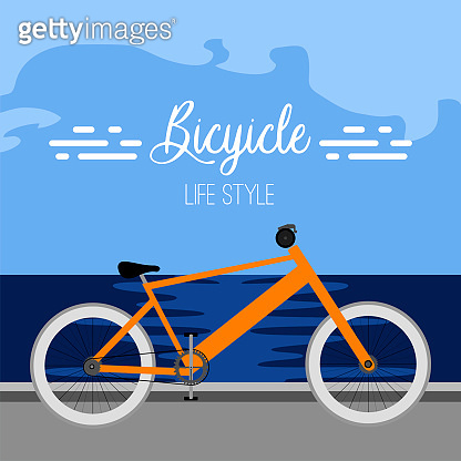 Isolated bicycle poster