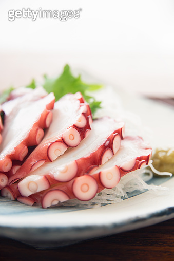 Japanese food, Boiled octopus sashimi