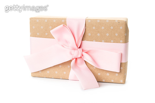 beautiful gift boxes made by hand isolated on white. holidays, birthday, new year, mother's day