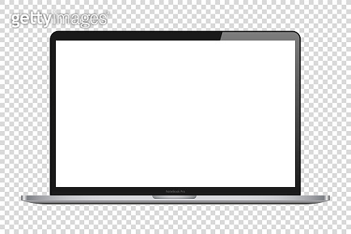 laptop isolate blank screen display mockup vector