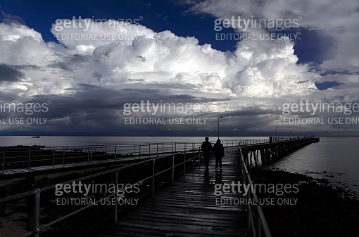 People Cloudscape Storm Weather Dramatic Port Victoria