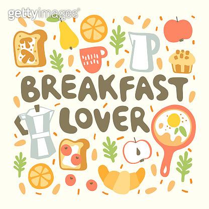 Breakfast lettering