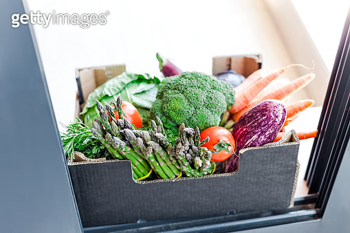 Vegetables box safe contactless delivery