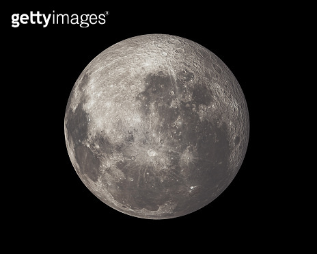 Full moon isolated on black sky background, map provided by nasa. 3d illustration