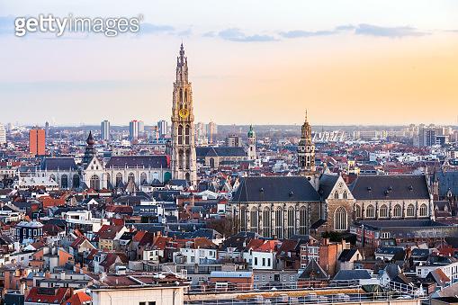 Antwerp sunset