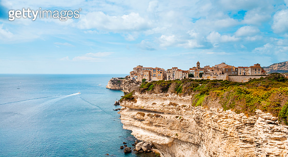 Ville Haute, the old town of Bonifacio, France