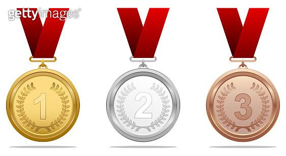 Vector award medal set