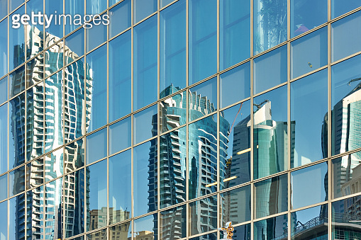 Reflection of skyscrapers -background