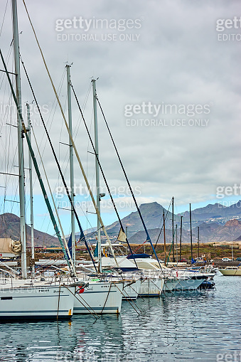 Yachts at Marina del Sur in Tenerife