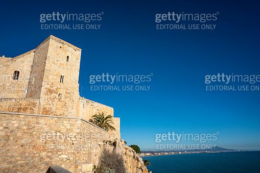 Peniscola Peñiscola outdoor Castle view and beach in Castellon Spain