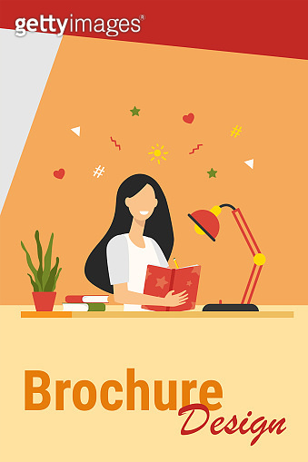 Girl writing in diary or journal isolated flat vector