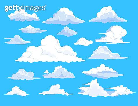 Set of clouds in sky