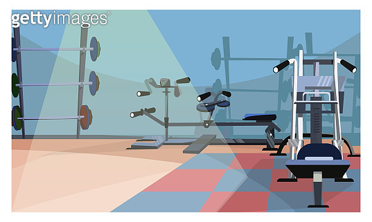 Gym interior illustration