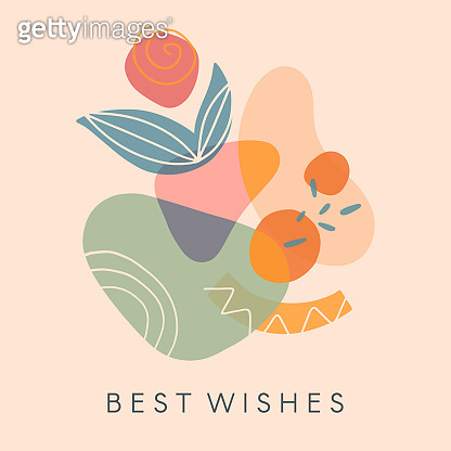 Creative universal artistic card - best wishes