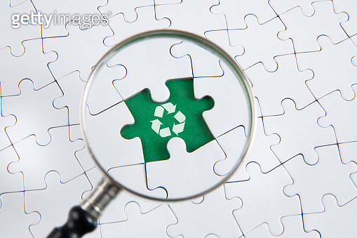 Recycle Concept with Puzzle Pieces