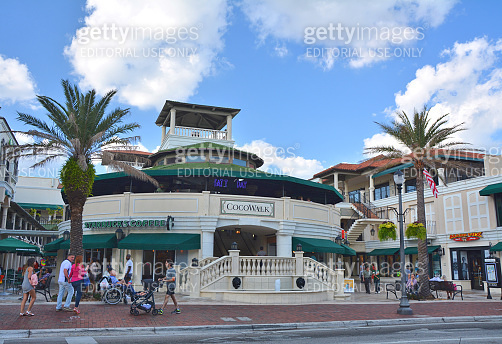 Cocowalk outdoor mall in Coconut Grove in Miami.
