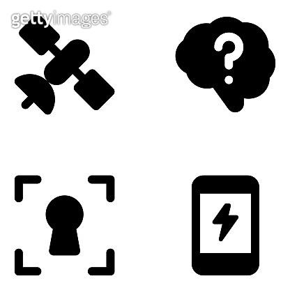 Set of Solid Icon Vectors