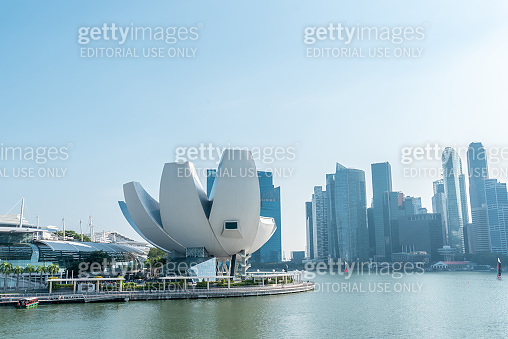 Singapore,31 August: The most beautiful Viewpoint marina bay, Asia business concept image, panoramic modern cityscape building in Singapore.