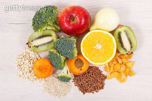 Healthy food as source vitamin PP and B3, dietary fiber and natural minerals