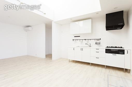 Modern kitchen white room interior