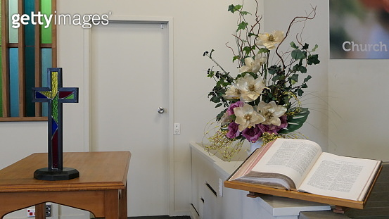 Shot of flowers used for a funeral service due to the Increasing death from Corona virus and Covid 19 pandemic outbreak