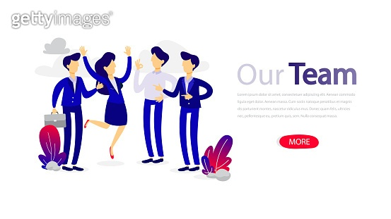 Our team design horizontal banner template for web page. Responsive design for website.