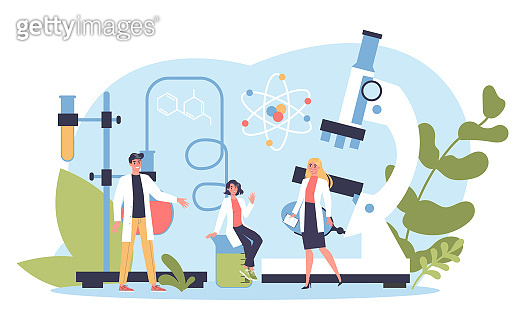 Science concept illustration. Idea of education and innovation. Study