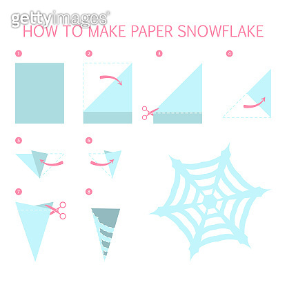 How to make christmas blue snowflake of we shape diy. Step-by-step instruction for paper
