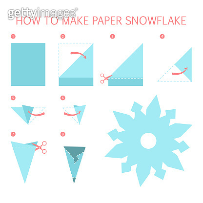 How to make christmas white snowflake of different shape diy. Step-by-step instruction for
