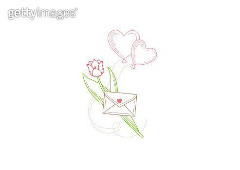 Vector romantic illustration. Symbol for Women's Day, Valentine's Day