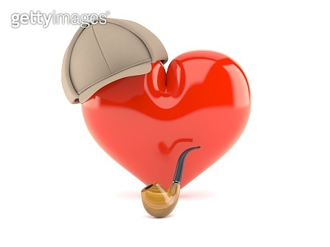 Heart with detective hat