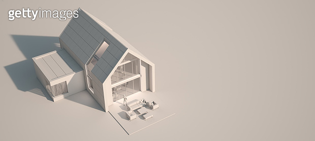 House color block white