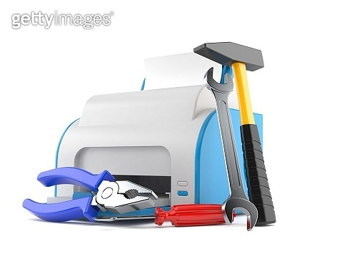 Printer with work tools