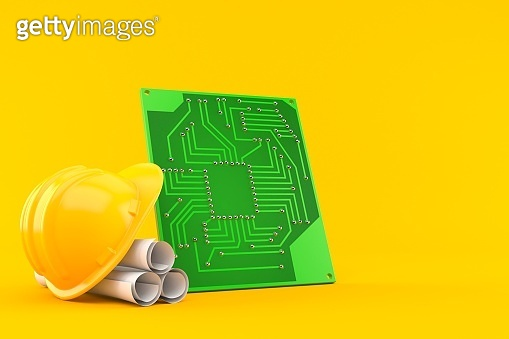 Circuit board with blueprints