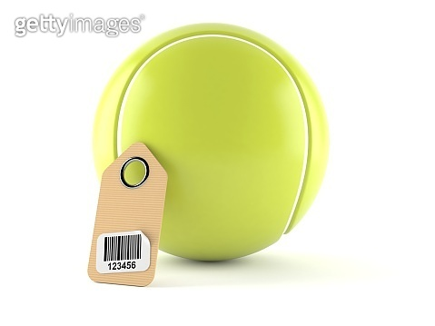 Tennis ball with barcode
