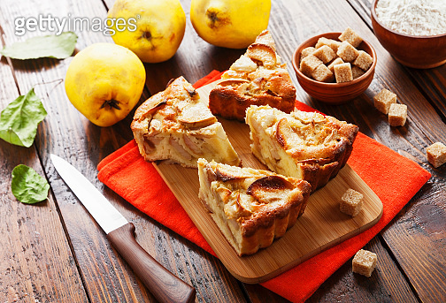 Fruit pie with quince