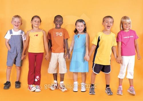 다양한 인종의 어린이들