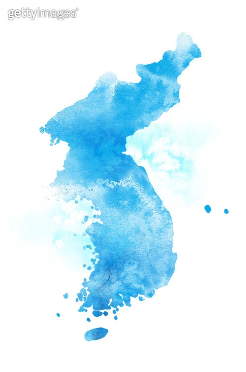 번짐, 대한민국, 한반도, 지도