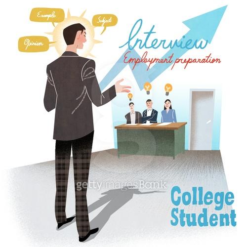College Student Illust