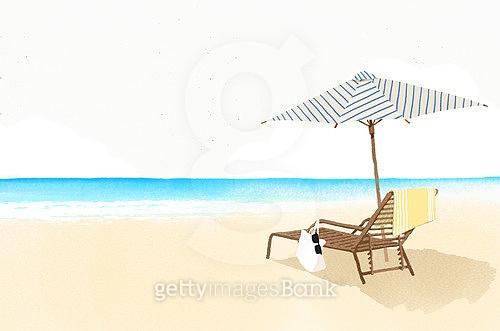 여름, 수채화, 바다