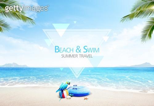 여름, 바다, 해변