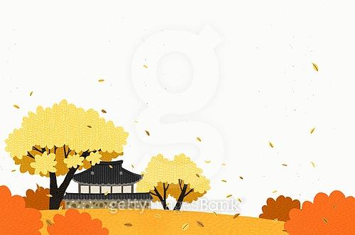 백그라운드, 가을, 나무