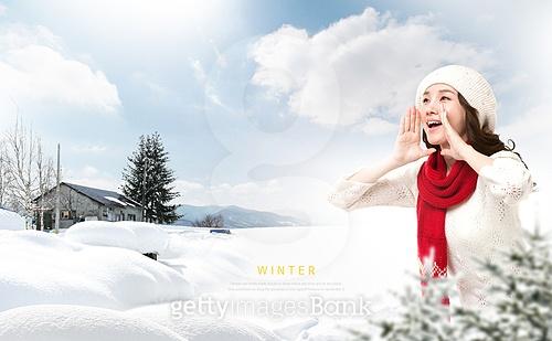 겨울, 여행, 휴식, 자연풍경