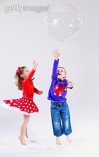 Two kids having great fun